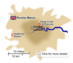 Manor English is based in Ruislip Manor - easy to reach from the St Pancras Eurostar terminal, and both Heathrow and Gatwick airports.